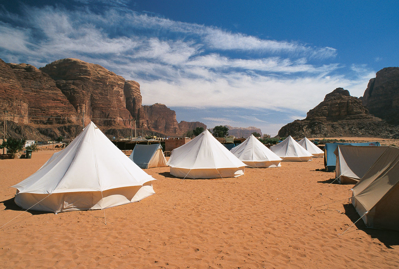 Welcome to the Valley of the Moon, the largest and most famous wadi in Jordan. With its sandstone and granite rock formations breaking through soft red sands, Wadi Rum is the most spectacular natural site of Jordan.